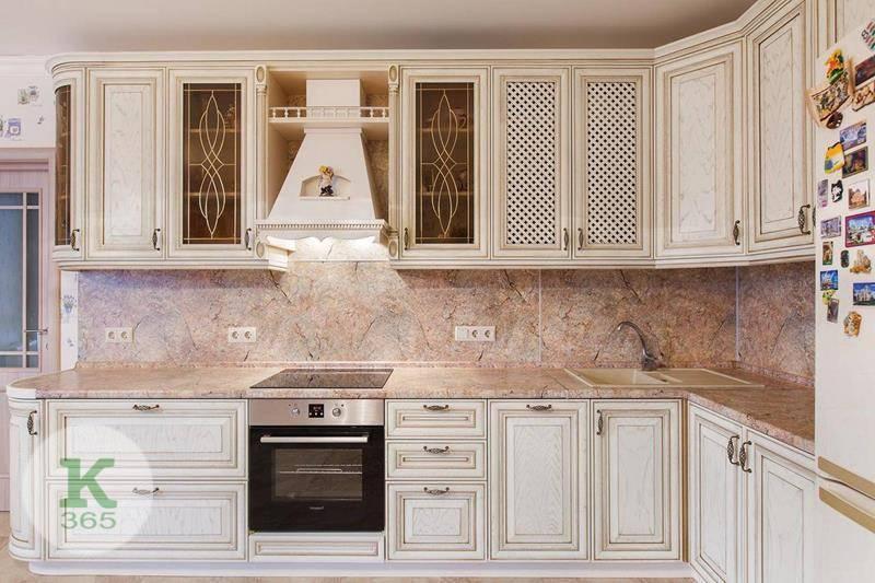 Кухня белая с золотом Маруська артикул: 173461