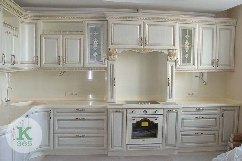 Кухня белая с золотом Модест артикул: 175232