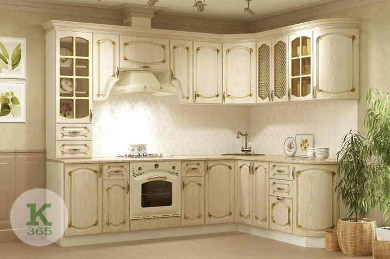 Кухня белая с золотом Контур артикул: 177013